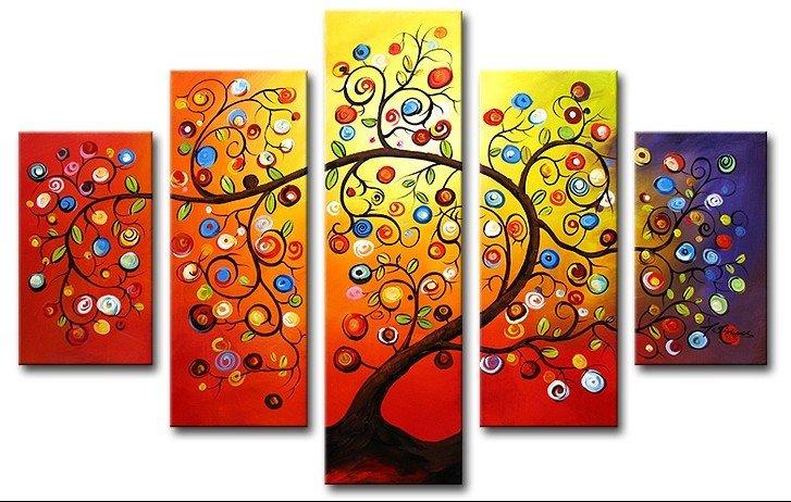 arte de la pared Hermosa árboles de color la decoración del hogar ...
