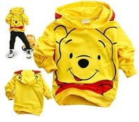 Sample Wholesale and retail cotton Cartoon  bear childrens clothing boy's girl's top shirts Hooded Sweater hoodie