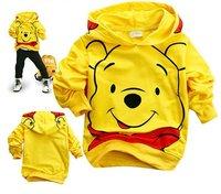 Комплект одежды для девочек Sample and retail cotton Cartoon bear childrens clothing boy's girl's top shirts Hooded Sweater hoodie