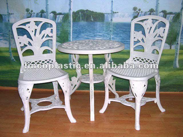 Pl stico silla de jard n y la tabla describen conjuntos de - Sillas para jardin de plastico ...