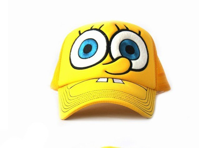Spongebob Snapbacks http://www.aliexpress.com/store/product/snapback-Cartoon-Charm-hats-Sports-caps-Boys-and-girls-Fashionable-hats-Spongebob-hat/204578_484149477.html