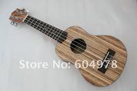 NEW Homeland brand laminated Zebra wood concert best sound Ukulele Size 21''