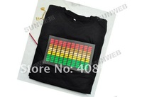 Мужская футболка EL T-Shirt Sound Activated Shirt Light Up Down Music Party Equalizer LED T-Shirt Dropshipping 1552