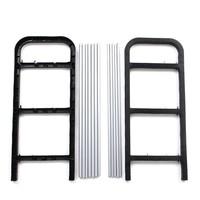 Складная мебель New Simple combination of 3-layer Plastic Shoes Rack Organizer Stand Shelf Holder Unit Black Light