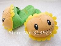 Plants vs Zombies Sunflower  Soft Plush Stuffed Slippers