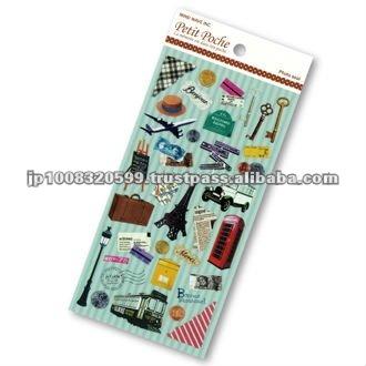 Petit Poche Sticker Secret Travel _ travel goods _ sticker printing _ stationery item _ handmade _ japanese sticker