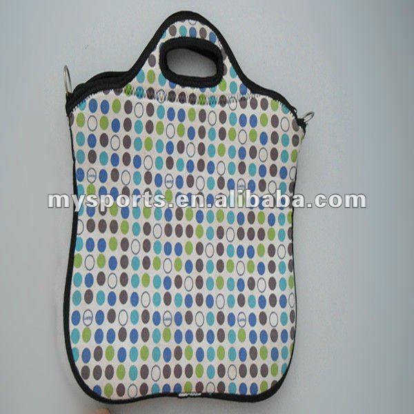 Neoprene laptop sleeve with shoulder strap