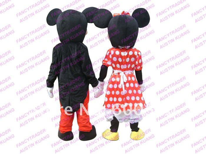Mickey and Minnie MASCOT COSTUME Free Shipping TOP SALES!