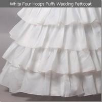 высокое качество белый 4 обруч пышные свадьбы Нижняя юбка юбка кринолин