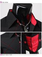 Мужская повседневная рубашка New Mens Casual Slim Fit Stylish Dress Shirts Colours:Black Szie:XS, S, M, L #23