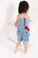 Комбинезон для девочек 10pcs/lot kids wear denim overalls, girls hello kitty Overalls, children jumpsuits/jumpsuit, Fast shipping