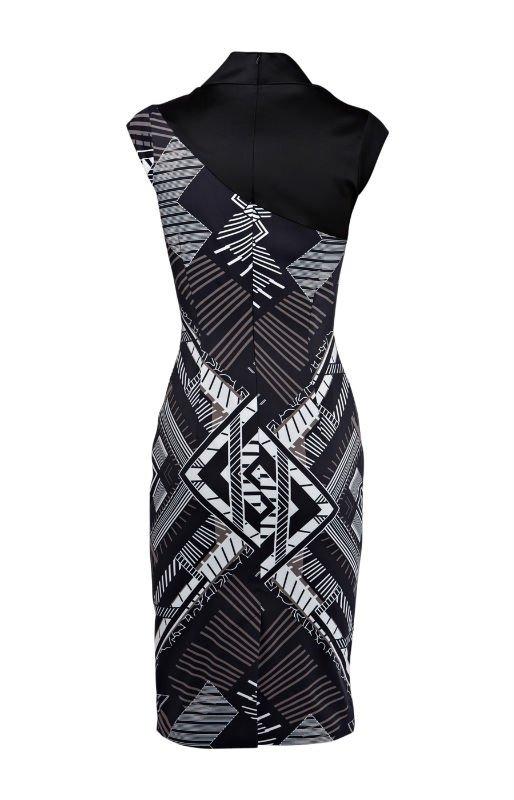 374770536 334 Hot sale pattern printed mature women dress DL186 free shipping