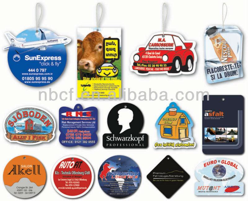 Paper Car Air Freshener;hanging air freshener