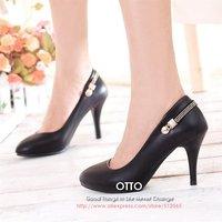 Туфли на высоком каблуке OTTO 2 colors 2012 nude high heel shoes, woman Black pumps, lady's fashion sexy shoes, S065