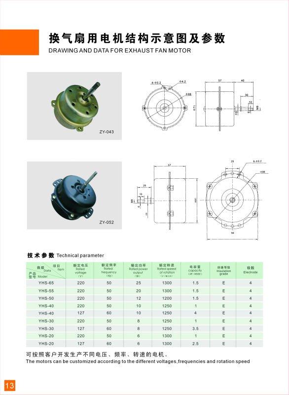 Ball Bearing Fan Motor