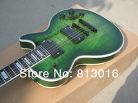 Free shipping Green burst color+body top AAA gradequilt falme+high quality electric Guitar+Free shipping!!!