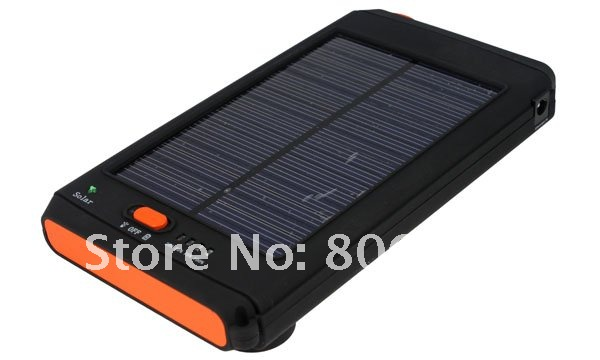 Portable External 11200mAh High Capacity Solar panel Li-ion battery Charger for Laptop Phone+LED flashlight+mobile phone batter