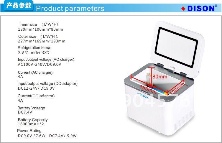 Small home appliance, 2~8'C Mini Medical Fridge protect insulin in safe Temp 540g