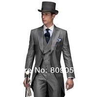 Свадебный мужской костюм M17 New Design Morning style Peak Lapel Groom Tuxedos Groomsmen Men's Wedding Suits Best man Suits