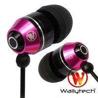 Наушники Wallytech 500X Metal Earphones For iPod MP3 MP4 earphone for iPad headphones 3.5mm jack by DHL