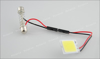 Верхнее освещение 3W COB Chip 18led LED Car Interior Light T10 Festoon Dome BA9S Adapter 12V, Car Vehicle LED Panel #v