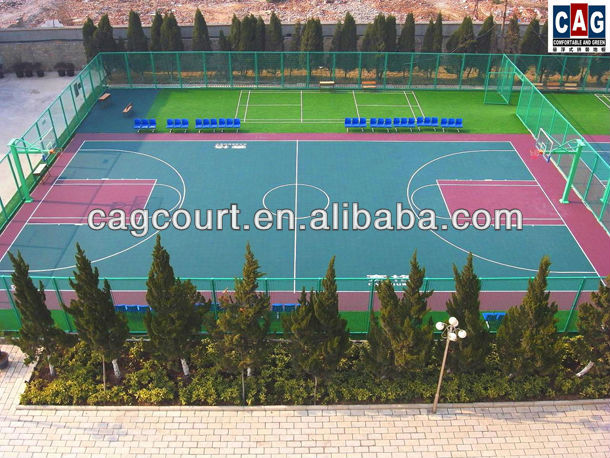 CAG gold series specifically designed no smell Acid-Resistant removable & Multi purpose outdoor basketball flooring