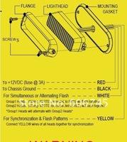 Светодиодное освещение new products 12~24V compatible high power LED strobe light, flash lamp 100000hours life