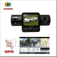 Автомобильный видеорегистратор 5.0 Mega 1280*480 Full HD Car DVR, Car Black Box X6000 with Dual Lens / G-Sensor / GPS / IR Light