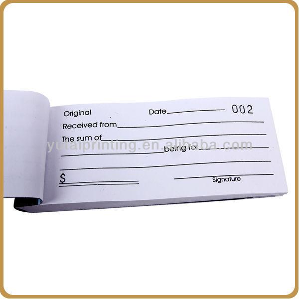 Bill Book Sample – Receipt Format for Payment