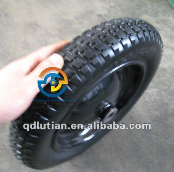 pu foam tire 3.00-8 pu solid wheel, pu foam tyre, wheelbarrow wheel