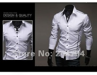 Мужская повседневная рубашка 79 New Mens Shirts Casual Slim Fit Stylish Mens Dress Shirts Colors Gray, Black, White US Szie XS, S, M, L