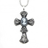 Цепочка с подвеской Vintage Cross Cameo women long Necklaces & Pendants fashion antique jewelry jewellery accessories nke-f73