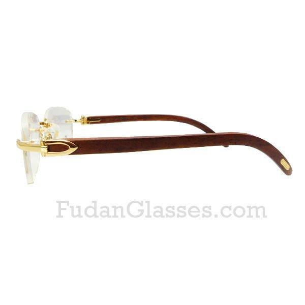 Wood Frame Eyeglasses : GOLD & WOOD A14 RIMLESS EYEGLASSES - EYEGLASSES