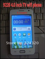 Мобильный телефон 2012 New i9220 WIFI TV phone Dual Cards Dual Standby 4.0 inch touch screen cellphone