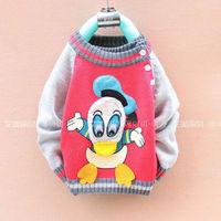Свитер для девочек 3pcs/lot baby cute cartoon donald duck kids cardigan boys girl's knitted christmas crochet sweater/pullovers