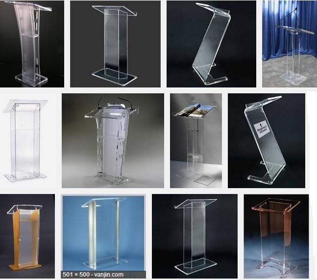 Дешевые уникальный дизайн и современные пользовательских акриловые подиум амвон аналой/поп акриловые подиум амвон аналой