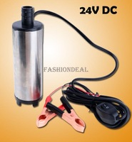 Насос 3pcs/lot cheapest New 24V DC Fuel Water Oil Car Camping Submersible Diesel Transfer Pump SV000325
