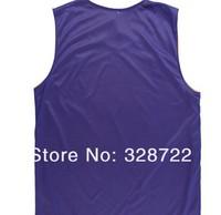 Мужская футболка для баскетбола New! famous basketball reversible men's jersey sportswear-white&blue