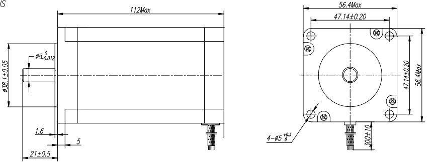10 pcs Nema23 stepper motor 30kg.cm/425oz в 4 leads free shipping by DHL