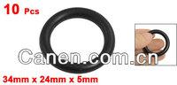10 x механические черный nbr o кольца масло печать шайбы 34 мм х 24 мм х 5 мм