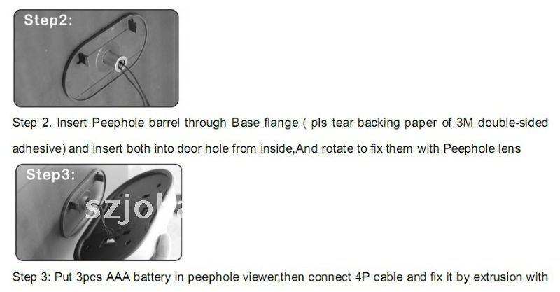 Digital peephole door wireless viewer hot sell in Italy