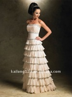Вечернее платье 2011 New strapless tiered beading evening dress