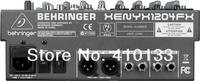 Профессиональное осветительное оборудование Behringer XENYX X1204 FX 8 channel build in digital vocal effect audio mixer