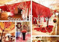 Лепестки роз 15bags Orange Silk Rose Petals fabric rose petal Wedding Favor Festival Decoration Hand Throwing Flowers 1500pcs 100pcs/bag