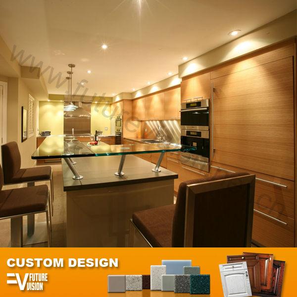 تصميم جزيرة المطبخ الدولاب مع كرسي