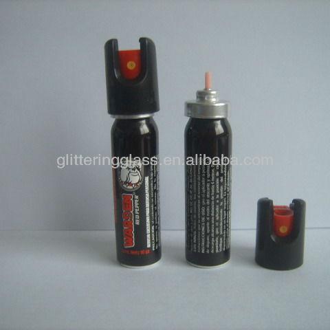 25 ml aerossol lata de alumínio com tampa de segurança e válvula para spray de pimenta