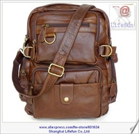 Рюкзак 2013 new man GENUINE LEATHER vintage dual-function Messenger bag shoulder bag briefcase backpack LF02035 5106