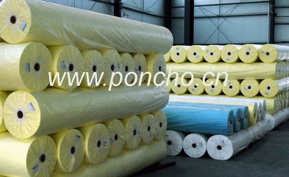 transparent pvc stretch film for rain poncho and diaper making