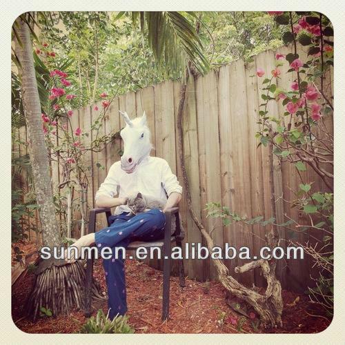 halloween latex full head masks realistic unicorn mask cosplay head mask