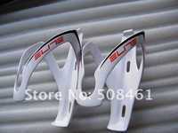 ELITE full carbon fibre water bottle cages holders bicycle White with red